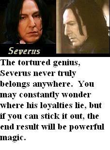 Jaka postać męska z HP ma to, czego pragniesz? - Page 2 SeverusSnape