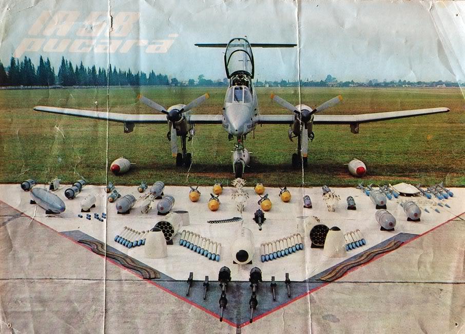 FMA IA-58 Pucará - Página 3 ARMAMENTO-DELANTE