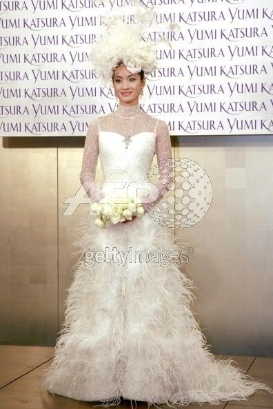 Olympic Champion, Shizuka Arakawa in 8.3 million weddinggown 73370724