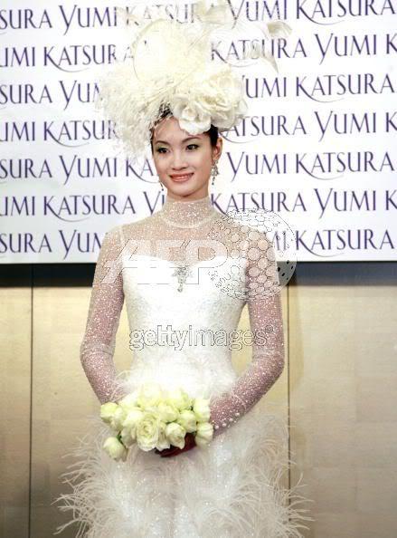 Olympic Champion, Shizuka Arakawa in 8.3 million weddinggown 73370728
