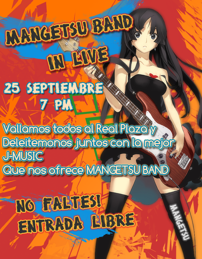 Mangetsu Band - Live in Real Plaza - Afiche-mangetsu-band-real-plaza