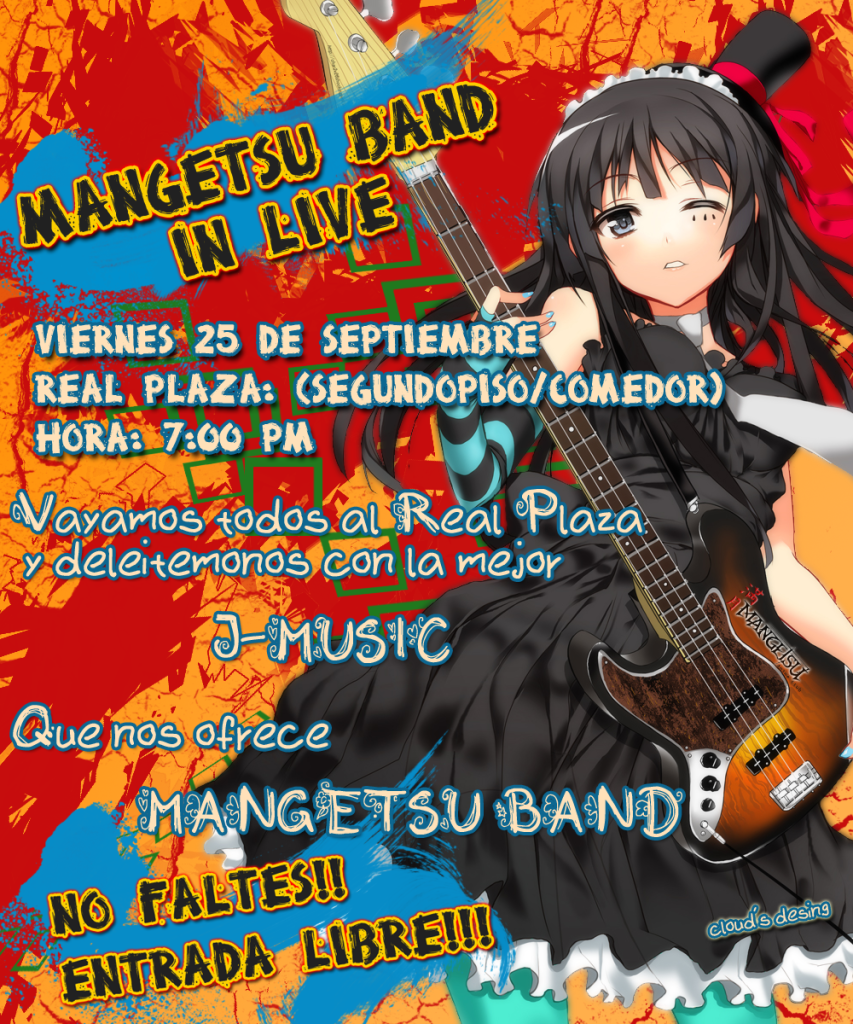 Mangetsu Band - Live in Real Plaza - Mangetsu-afiche2