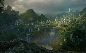 Lugares Spiritual Forest 342411_pejzazh_vodopady_les_gorod_piramidy_raduga_1680x1050_www_GdeFon_ru