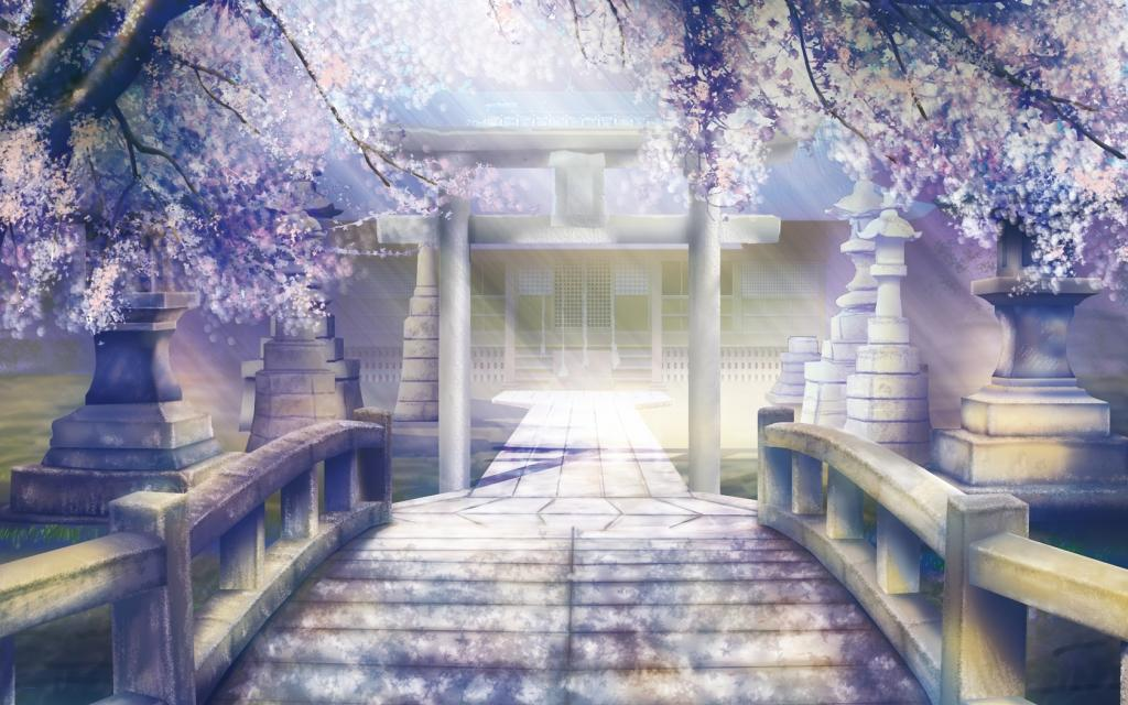 Lugares Spiritual Forest 354734_art_pejzazh_xram_derevya_cvetushhie_cvety_most_dor_1680x1050_www_GdeFon_ru