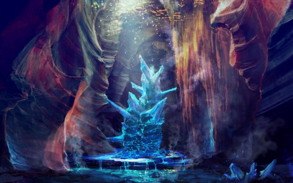 Lugares Spiritual Forest 467744_art_peshhera_kristall_treshhiny_voda_ruchejki_1680x1050