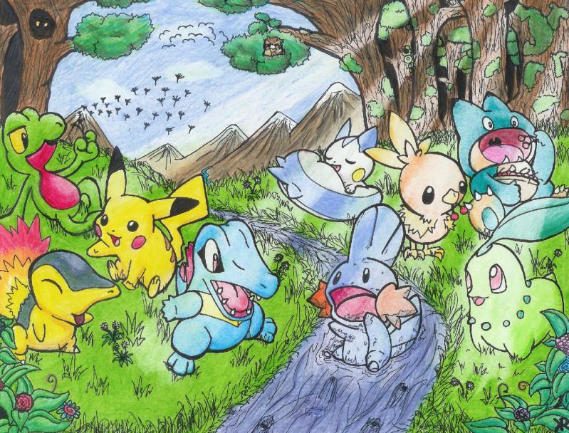 Nhận tìm , post hình Wallpaper pokemon , pokemon - Page 2 Pokemon_Playtime_by_Chartodileon