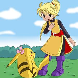 Nhận tìm , post hình Wallpaper pokemon , pokemon - Page 2 Yellow_and_Chuchu_by_Pokemon_Manga_