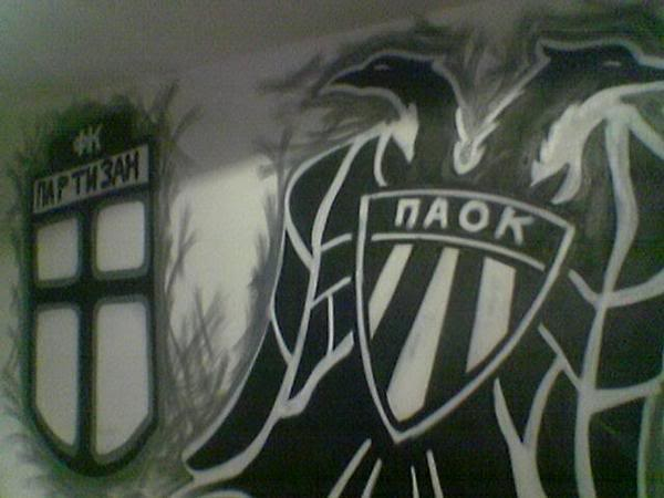 Ultras Grafitti GraffitiPartizan-PAOKInSerbia