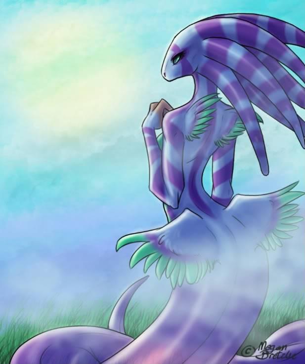 Art of Meegz the divine o.O Snakegirl-1