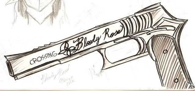 Kelley Thomas Bloody_Rose_Gun_by_wOmpy_ness