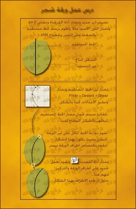 كيفية تصميم ورقة شجر B4d20b004d