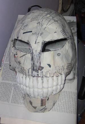 Tutorial cosplay Máscara de Hollow (Bleach) Mascara3