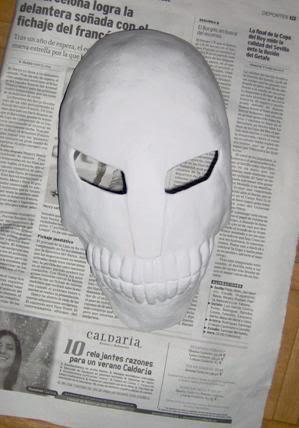 Tutorial cosplay Máscara de Hollow (Bleach) Mascara5