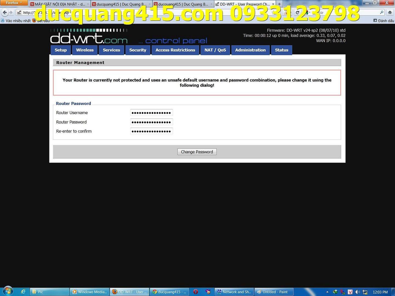 Hướng dẫn cài đặt Repeater WIFI BUFFALO chạy Firmware dd-wrt để thu phát sóng 1