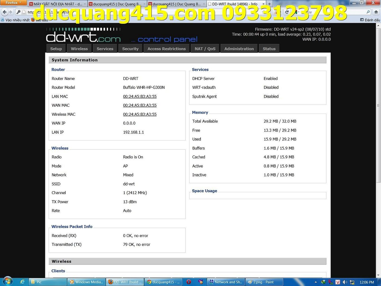 Hướng dẫn cài đặt Repeater WIFI BUFFALO chạy Firmware dd-wrt để thu phát sóng 3