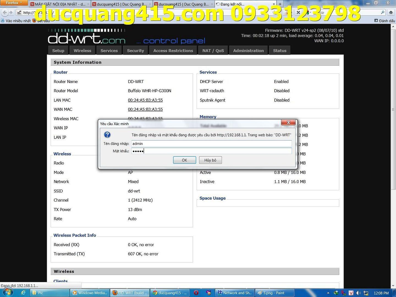 Hướng dẫn cài đặt Repeater WIFI BUFFALO chạy Firmware dd-wrt để thu phát sóng 4