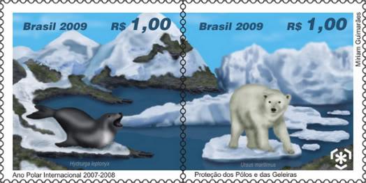 Emissions de Brésil - 2009 07-Selo_Geleiras