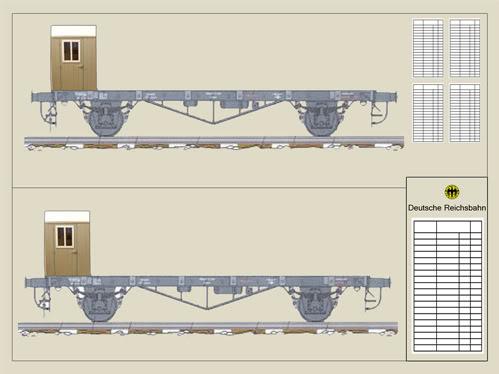 REICHSBAHN Drehschemelwagen der DR Planos-vagones-1