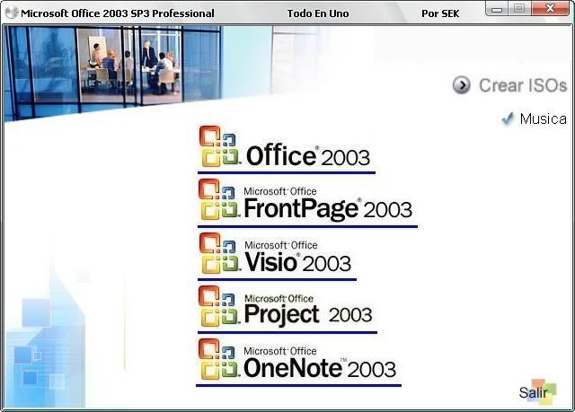 Todo en UNO Microsoft Office 2003 SP3 Professional TEUMicrosoftOffice2003SP301
