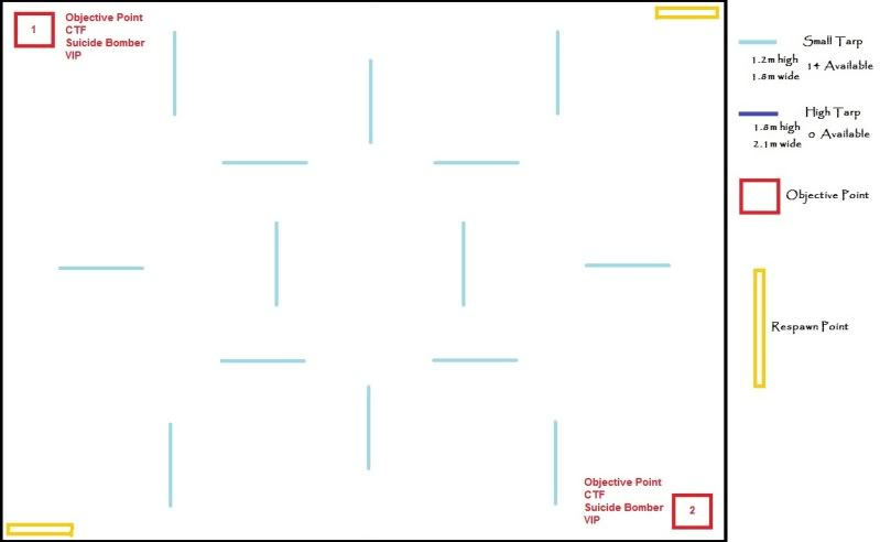 (CENTRAL BRISBANE QUEENSLAND) Kelvin Grove, McCaskie Park, Speed Foam Warfare, 22nd of January, 2012 - (SUNDAY) MapIdea6