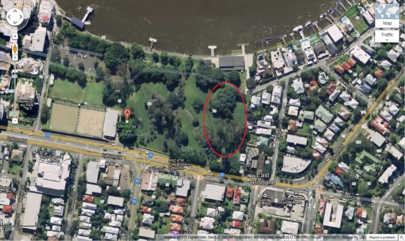 Potential Central Brisbane War Location in East Brisbane (5minutes from CBD) PotentialNerfWarLocationCircled