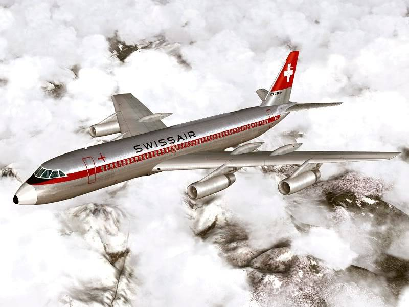 Convair 990 Swissair Revell  Swissair_990a_1964_hb-ice