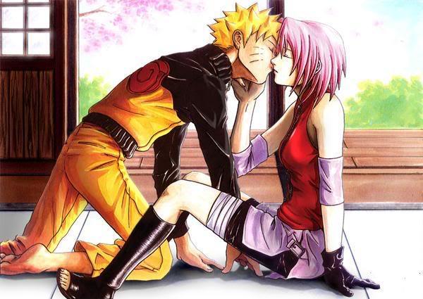 naruto and sakora Kiss4