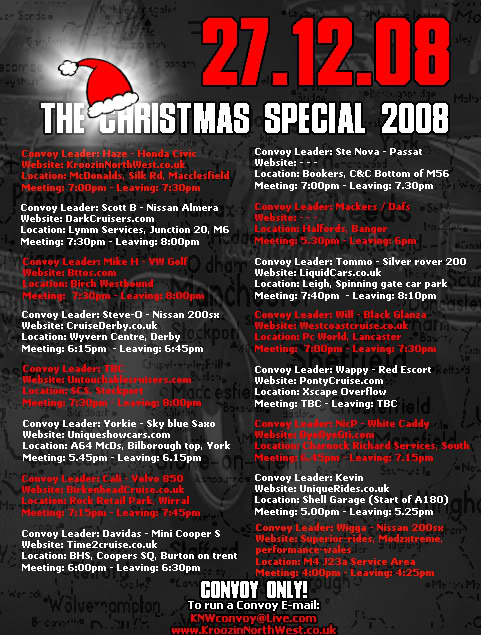 Christmas Special Cruise 08 - Saturday 27th December KNW-XMAS2