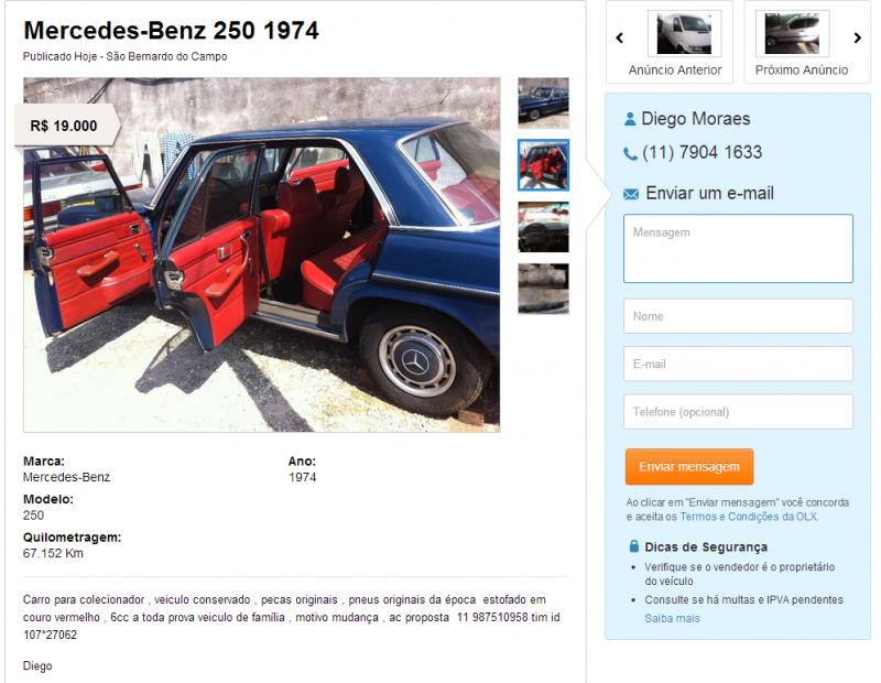 W114 250 1974 - R$ 19.000,00 250-1974_zpscf322c76