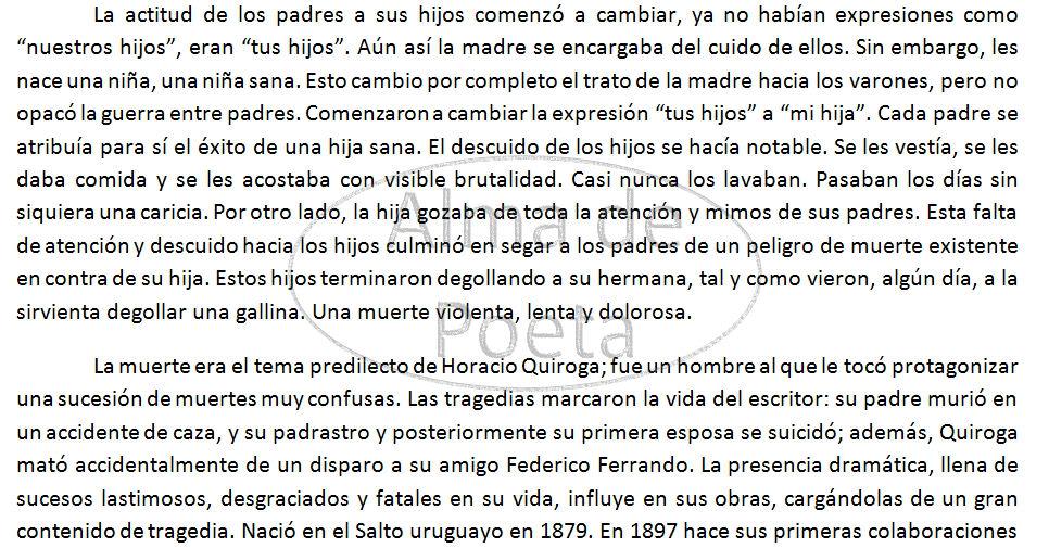 Problematica Social en La Gallina Degollada de Horacio Quiroga De Arthur López EnsayoParte2ArthurMLopez