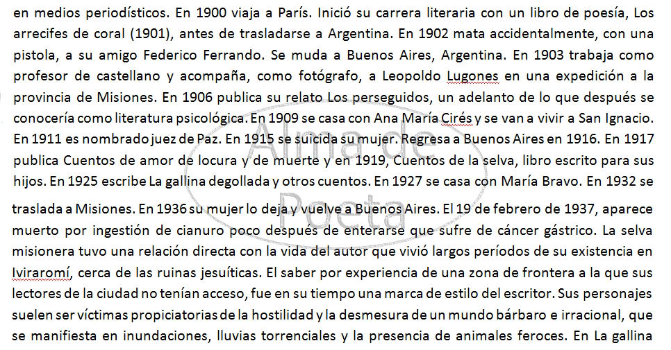 Problematica Social en La Gallina Degollada de Horacio Quiroga De Arthur López EnsayoParte3ArthurMLopez