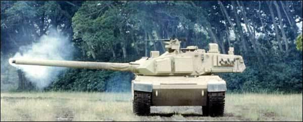 الدبابة البرازيلية EE-T1 Osorio Osorio-Firing