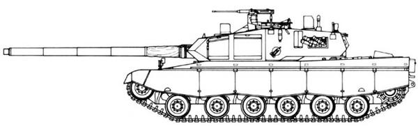 الدبابة البرازيلية EE-T1 Osorio Osorio-draw