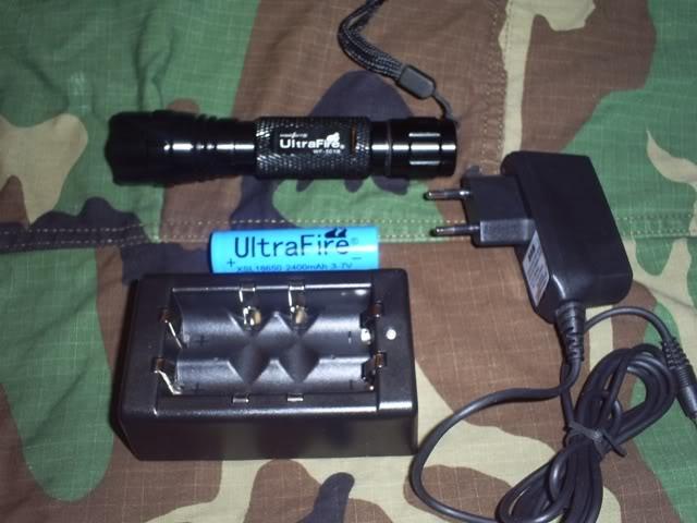 Review de la linterna tactica Ultrafire 501B CREE S4031987