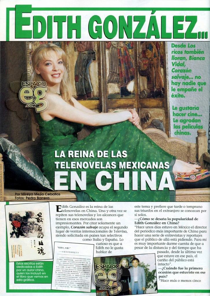 1997-08. [ SCAN ] La reina de las telenovelas mexicanas en China Edith31a