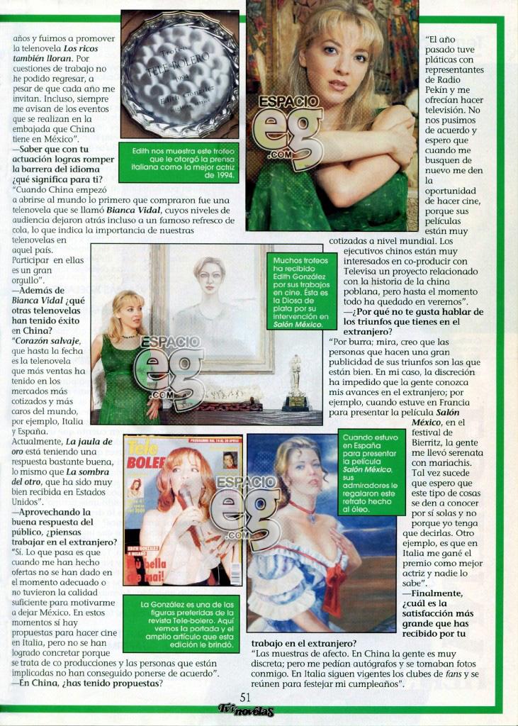1997-08. [ SCAN ] La reina de las telenovelas mexicanas en China Edith31b