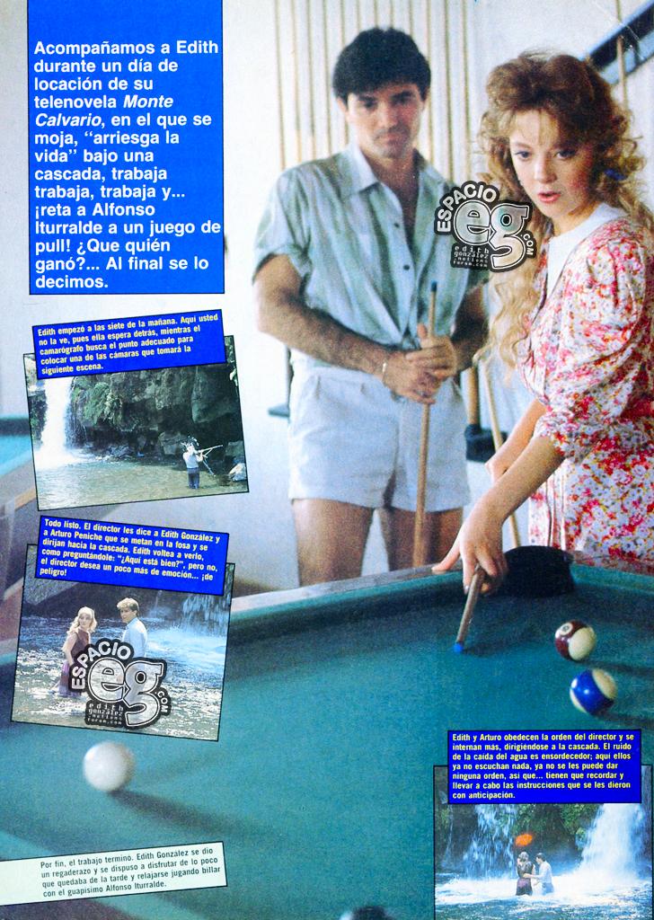 1986. [ SCANS ] Edith González relaja los nervios ¡jugando billar! Edith81b