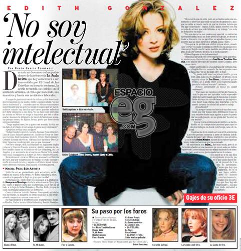 1997-05-05. [ ENTREVISTA ] Edith González: 'No soy intelectual' Espacio113