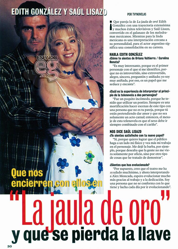 LaJauladeOro - 2003-03. [ SCANS ] Que nos encierren con ellos en 'La Jaula de Oro' Edith26