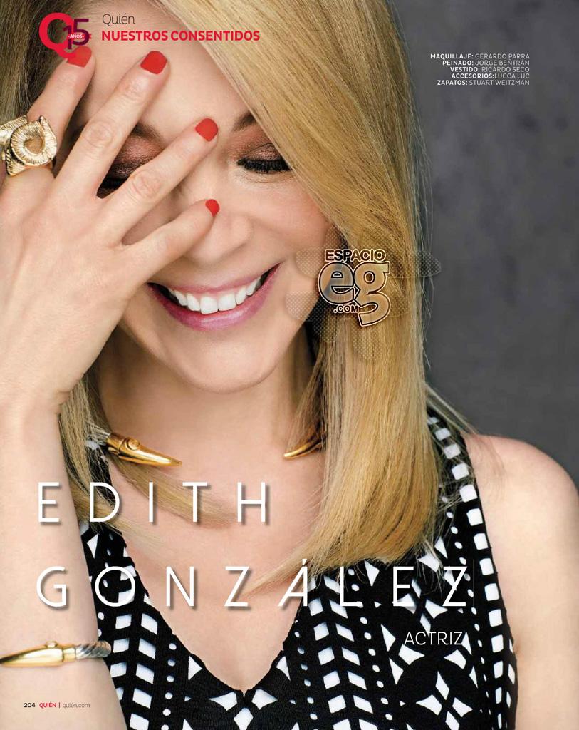 2015-05. [ SCANS ] Edith González en los 15 años de la revista Quién  Edith35