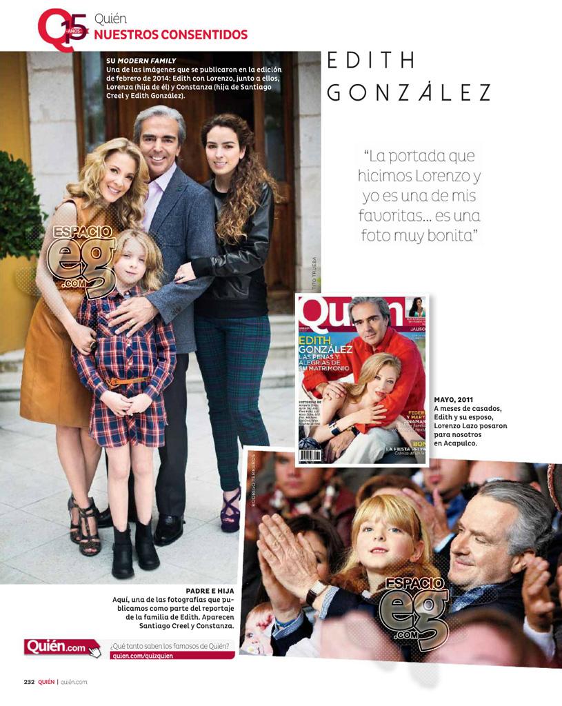 2015-05. [ SCANS ] Edith González en los 15 años de la revista Quién  Edith38
