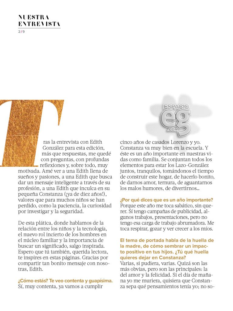 """2015-05. [ SCANS ] """"Quiero una vida con significado"""" (Revista Fernanda) Edith45"""