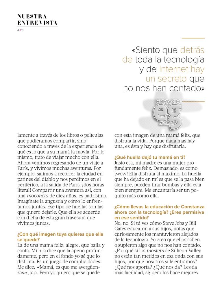 """2015-05. [ SCANS ] """"Quiero una vida con significado"""" (Revista Fernanda) Edith46"""