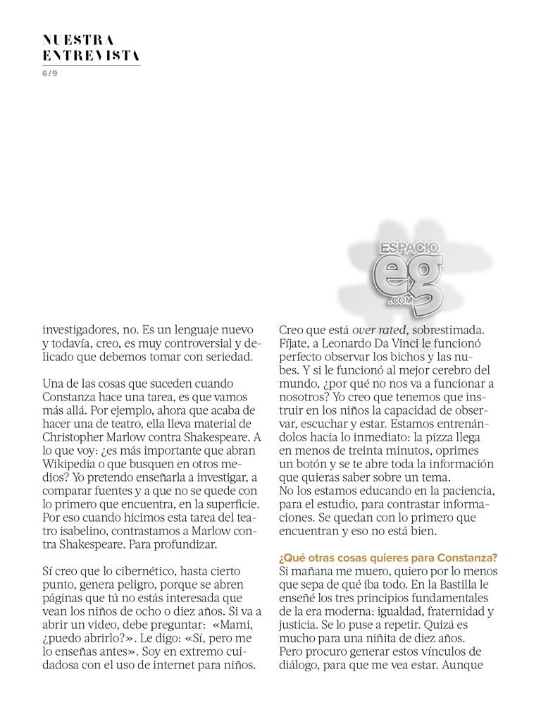 """2015-05. [ SCANS ] """"Quiero una vida con significado"""" (Revista Fernanda) Edith47"""