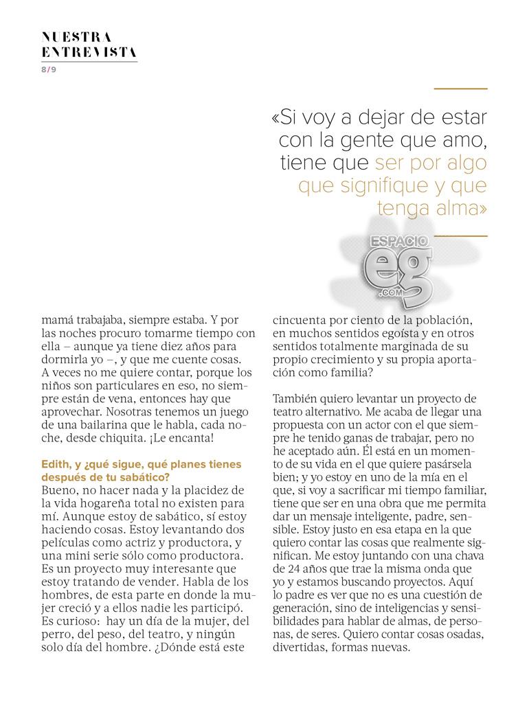 """2015-05. [ SCANS ] """"Quiero una vida con significado"""" (Revista Fernanda) Edith48"""