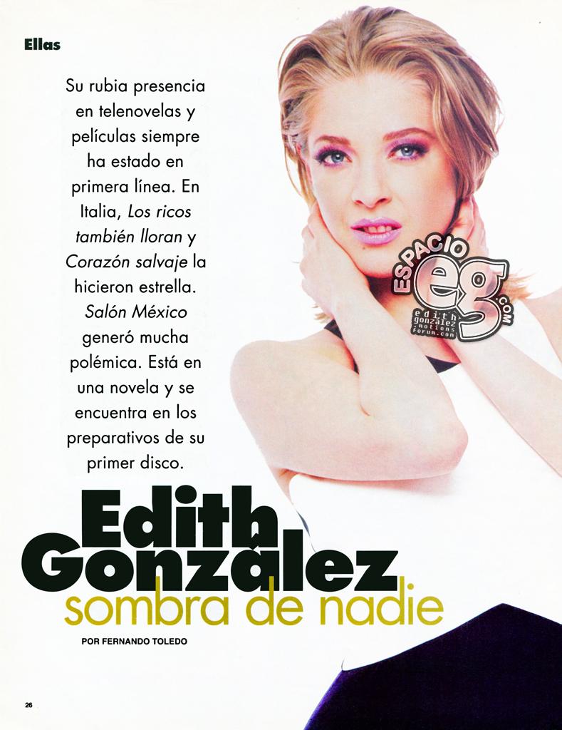 1996-06. [ SCAN ] Edith González estrena novela y prepara disco Elle2