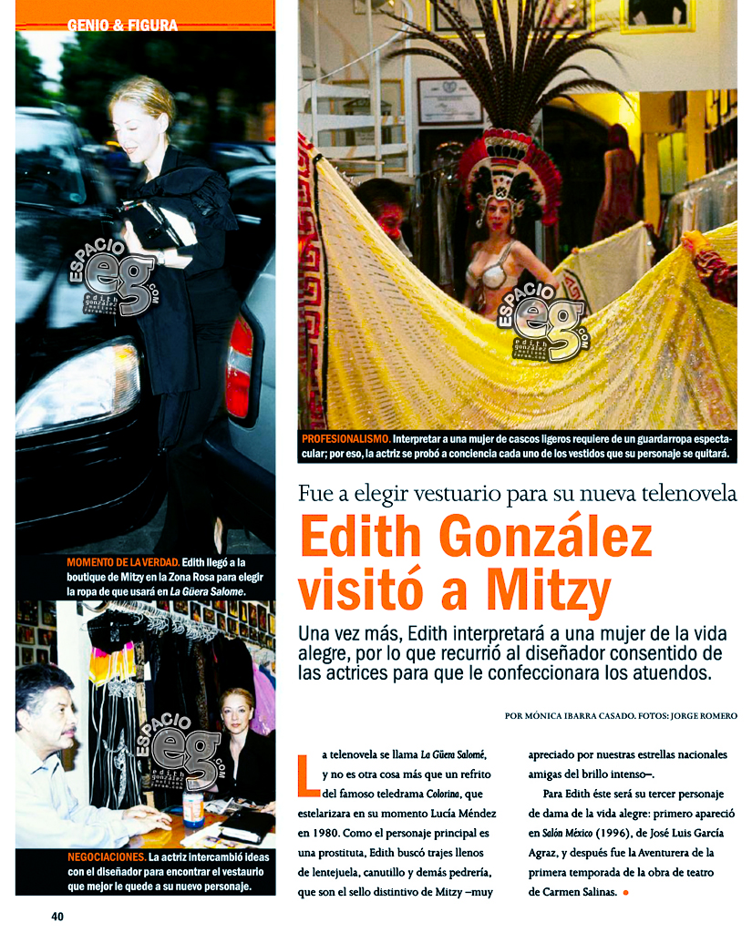 Tag salomé en Espacio EG - Edith González Mitzy