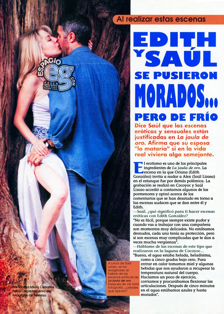 1997-06-19. [ SCAN ] Saúl Lizaso y las escenas eróticas de 'La Jaula de Oro' Saul1