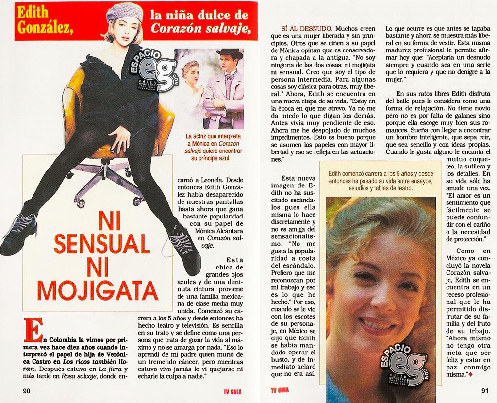 Tag sexy en Espacio EG - Edith González TVGuiaCol
