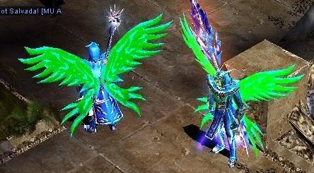 Alas Para Blade Knight, Soul Master e Muse Elf - Verde AsaSm20